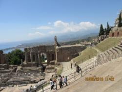 Greek theatre less that ten minute walk into town