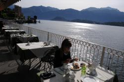 la colazione sul balcone del ristorante