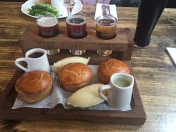 You get a selection of 3 pies and 3 ales with mash. Good portion size too.