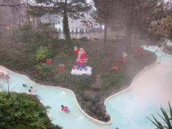 Outdoor rapids at Christmas time