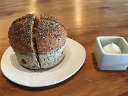 Bread and cream cheese