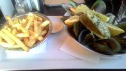 my .5kg signature mussels, blue cheese sauce, the best