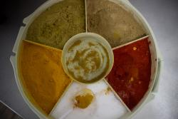 The only place in the country where they have such a LARGE array of spices- so true to the food.