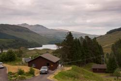 View from front patio looking over Loch Lubhair.