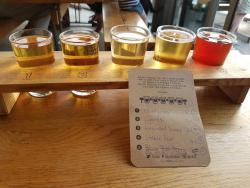 Fabulous pizza and cider taster board