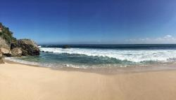 Private beach (panoramic picture)