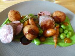This was Loin of Lamb - lunch time on a sunny Saturday in June.