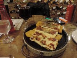 Polenta com queijo coalho