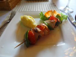 Spiedini di pollo (grilled chicken breast skewers)