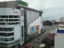 Shopping malls across hotel