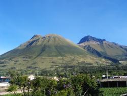 Imbabura volcano right next door
