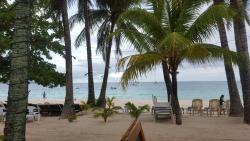 Beach front, beautiful.