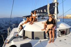 Sail Away Santorini Catamaran Sailing