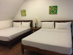 Taken from our room in Agoncillo Building which has a loft, comfortable 3 queen-sized beds and a