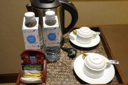 Free water and tea/coffee making facilities