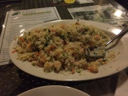 fried rice w/ veggies and shrimps