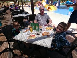 Lunch by the pool