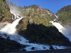 Latefossen Waterfall