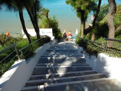 Steps down to the Beach
