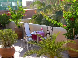 Breakfast on roof top terrace