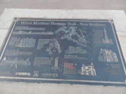 history map of new brighton on the sidewalk