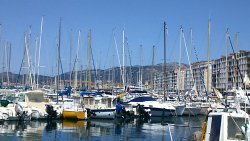 The view of the Yatch port of toulon