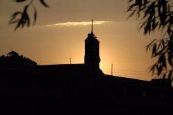 Sunset , Clock tower