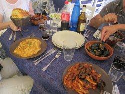 pranzo a base di pesce...