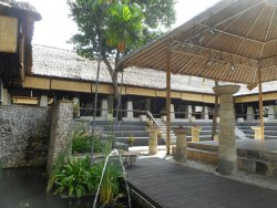 Looking from pool to Restaurant