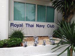 Restaurant is inside the Royal Thai Navy Club