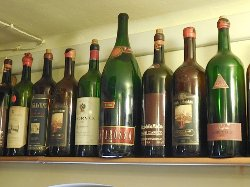 Various wine bottles.