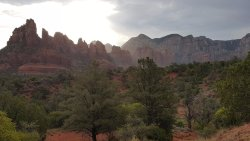 Beautiful views of red rock mountains in Sedona