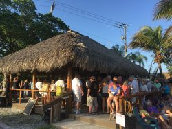 Tiki bar in parking lot