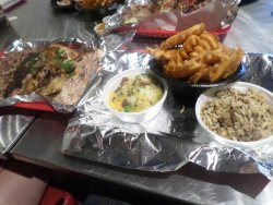 Side dishes on the right...