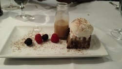 Bread pudding with warm carmel sauce