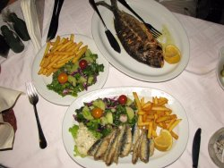 Good fishes, garnishes and salads