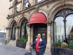 Outside the Hotel Malmaison