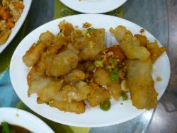 Deep Fried Cod Fillet with Spicy Salt & Chili