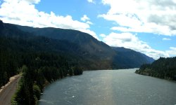 Crossing the scenic Columbia River to Skamania