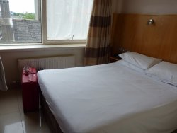 Double bed in the standard room