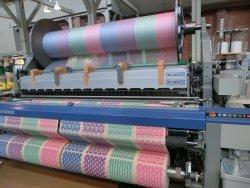 タオルを編んでいた機械