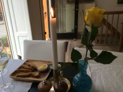 Romantic table by the window