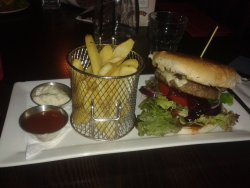 Beef burger was lovely.