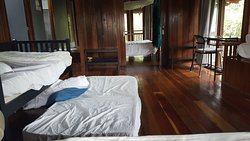 Bed and guest count includes beds on the floor which is not covered by mosquito nettings