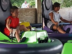 Bumper cars $10 for 5 minutes