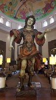 Art around the hotel is wonderful. This statue is on the other side of the lobby.