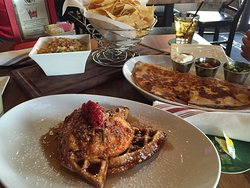 Great waffles and chicken