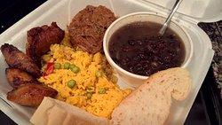 Ropa Vieja, Plantanos, Black Beans, Yellow Rice