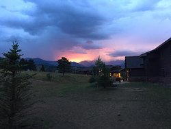 Sunset view from outside our lodge