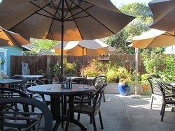 The charming garden patio
